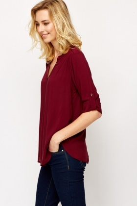 Ruched Shoulder Blouse