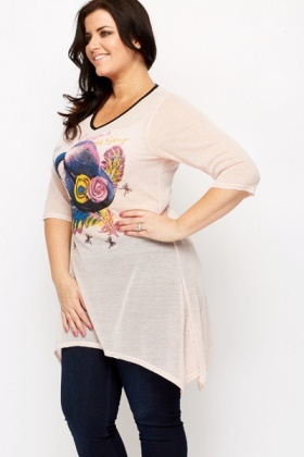 Floral Hat Print Tunic