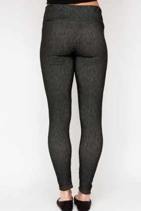 Animal Print Waist Detail Leggings