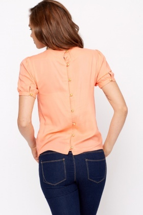 Golden Button Back Blouse