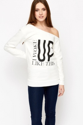 Slogan Fleece Sweatshirt