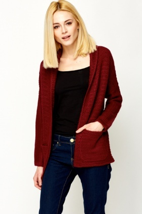 Chunky Open Front Cardigan