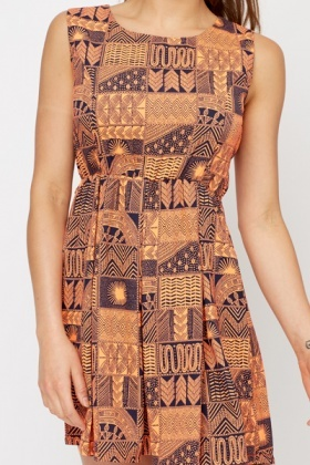 Tribal Print Summer Dress