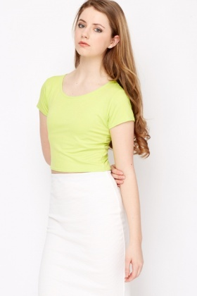 Short Sleeved Crop Top