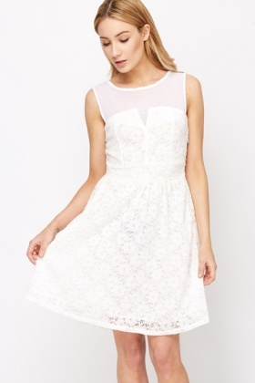 Lace Overlay Party Dress