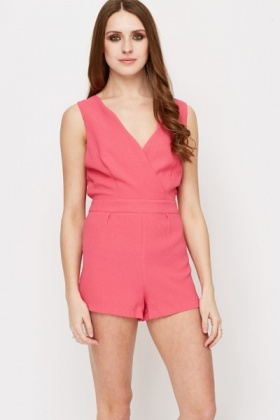 Low V-Neck Playsuit