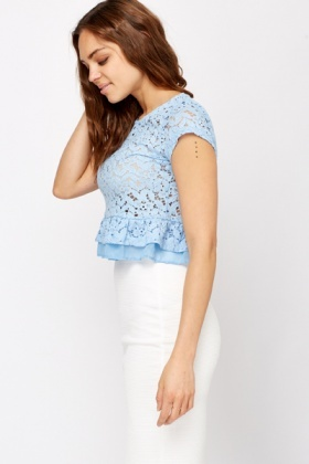 Cotton Laced Crop Top