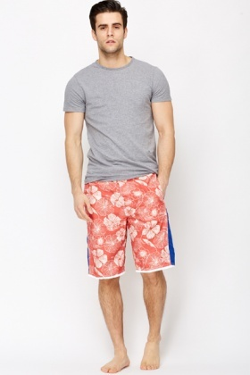 Flower Trim Swimming Shorts