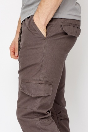 Low Crouch Cotton Trousers