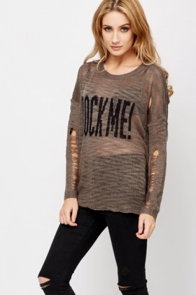 Rock Me Knitted Jumper