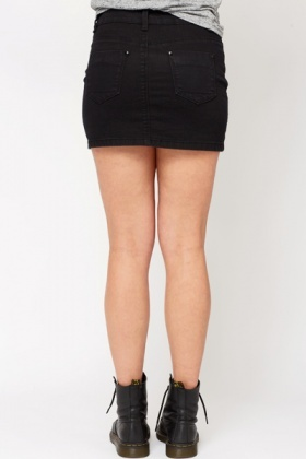 Studded Denim Mini Skirt - Just £5