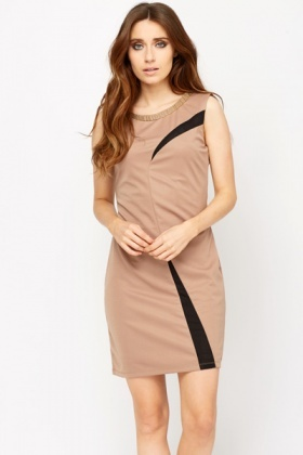 Mesh Panel Insert Bodycon Dress