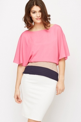 Pleated Hem Top