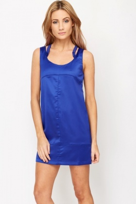 Criss Cross Silky Feel Dress