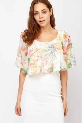 Tropical Sheer Crop Top