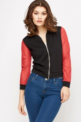 Perforated Zip Up Jacket