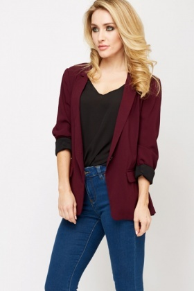 Plum Single Button Blazer