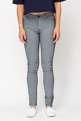 Diamond Check High Waist Jeggings