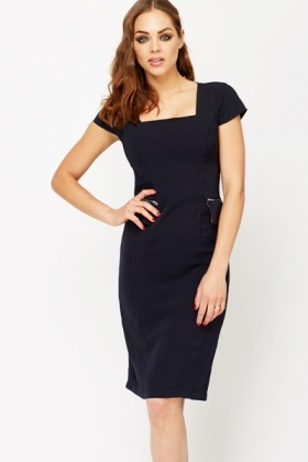 Formal Zip Flared Dress