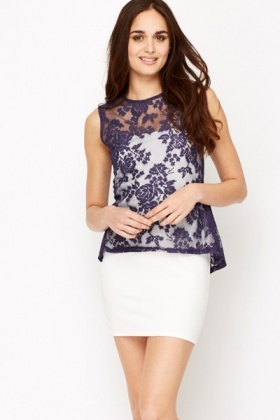 Peplum Back Lace Top