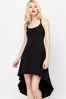 Spaghetti Strap Dip Hem Dress