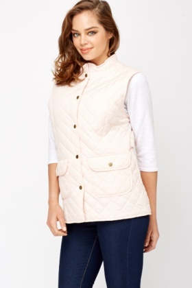 Gold Button Quilted Gillet