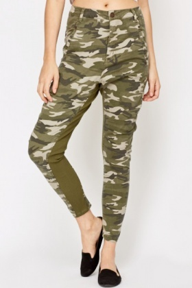 Ribbed Panel Army Trousers