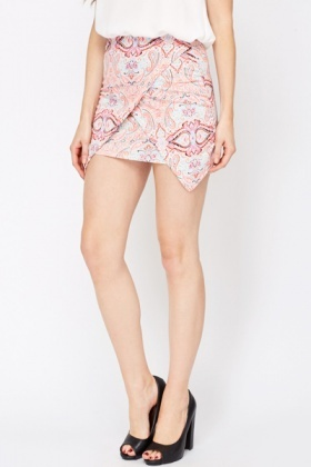 Paisley Print Mini Skirt