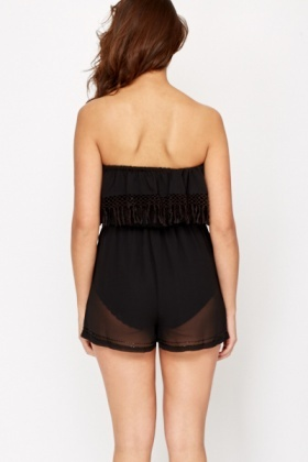 Beachwear Sheer Playsuit