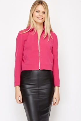 Collared Short Jacket