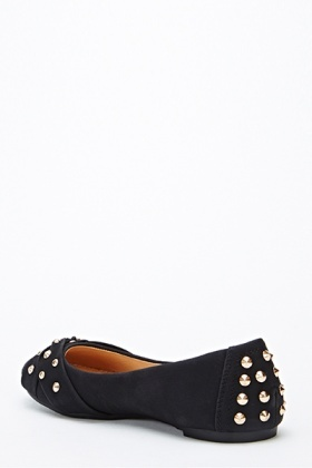 Faux Leather Studded Flats