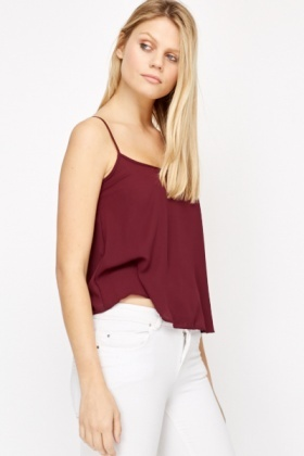Plum Cropped Cami Top
