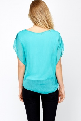 Sheer 2 In 1 Happiness Blouse