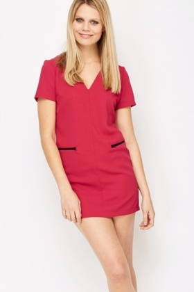Zip Pocket Tunic Dress