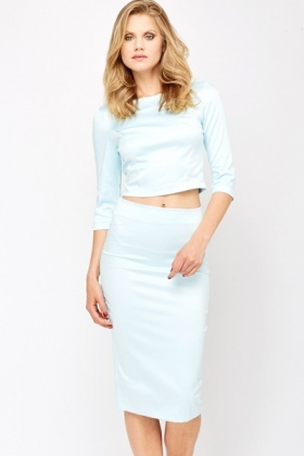 Silk Feel Party Crop Top