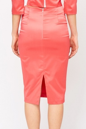 Silk Feel Pencil Skirt - Just £5