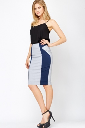Contrast Formal Pencil Skirt - Just £5