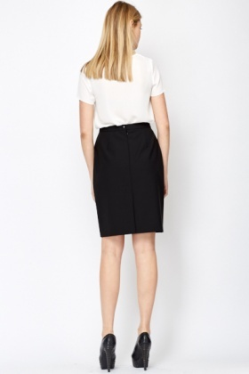 Black Formal Midi Skirt - Just £5