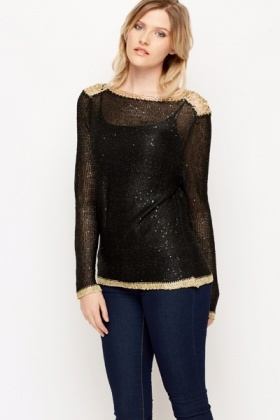 Chain Embellished Pullover