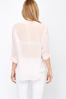 Eiffel Tower Sheer Top