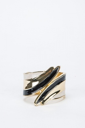 Gold Tone Coloured Twist Cuff