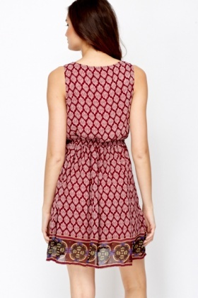 Paisley Print Summer Dress