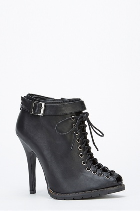 Side Buckle Ankle Boots
