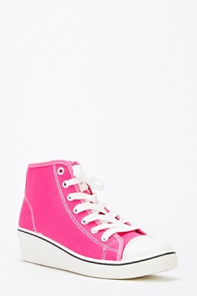 Canvas Wedge Trainers