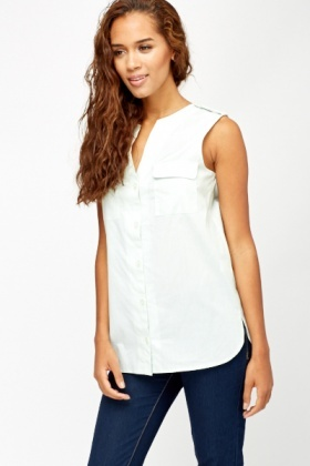 Casual Sleeveless Shirt
