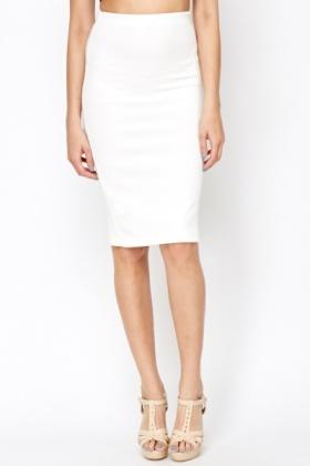 White Pencil Skirt - Just £5