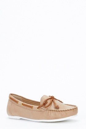 Contrast Trim Boat Shoes
