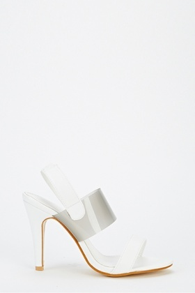 PU Faux Leather Sandal Heels