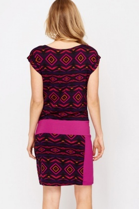 Tribal Pattern Tunic Dress