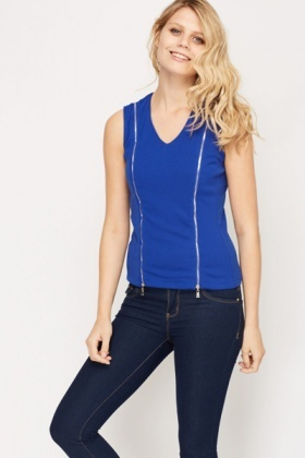 Zip Insert Cotton Top